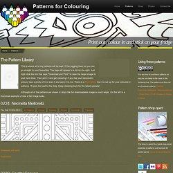 Carlton Hibbert's pattern blog