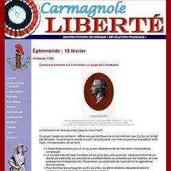 Carmagnole-Liberté : Ephéméride 15 février