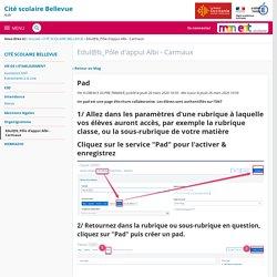 Pad - Edul@b_Pôle d'appui Albi - Carmaux - CITE SCOLAIRE BELLEVUE