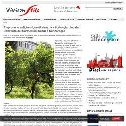 Le antiche vigne di Venezia: l'orto-giardino del Convento dei Carmelitani Scalzi a Cannaregio