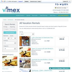 Playa del Carmen Vacation Rentals Villas