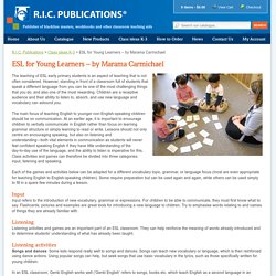 ESL for Young Learners - by Marama Carmichael - R.I.C. Publications