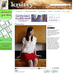 Carnaby skirt: Knitty Deep Fall 2010