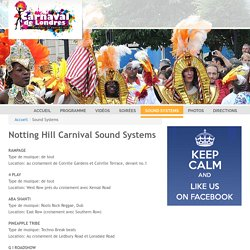 Sound Systems - Carnaval de Londres