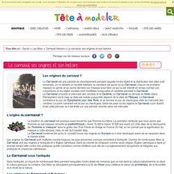 Le carnaval, sesorigines et son histoire Fiche : Le carnaval