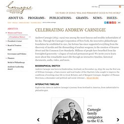 Corporation of New York: About Andrew Carnegie