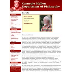 Carnegie Mellon Department Of Philosophy: Clark Glymour