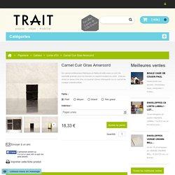 Carnet Cuir Gras Amarcord - TRAIT · papier objet mobilier
