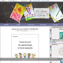 Carnet de suivi CYCLE 1 PS/MS/GS