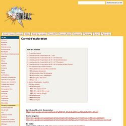 Carnet d'exploration - Funisall