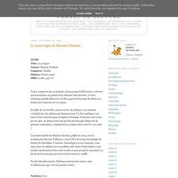 Carnet de lecture: Le 5ème règne de Maxime Chattam