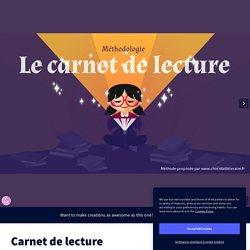Diaporama méthodo Carnet de lecture sur Genially