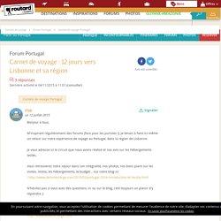Carnet de voyage : 12 jours vers Lisbonne et sa région : Forum Portugal