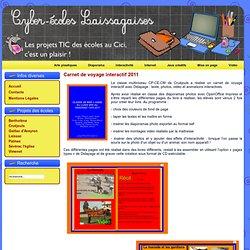 Carnet de voyage interactif 2011