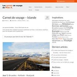 Carnet de voyage - Islande - Les carnets de voyage de Miss A.