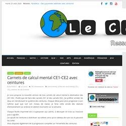 Carnets de calcul mental CE1-CE2 avec ceintures