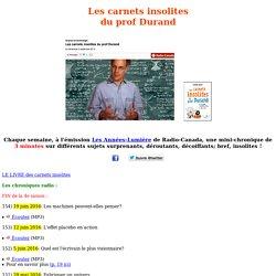 Les carnets insolites / Stéphane Durand