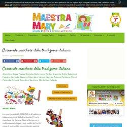 Carnevale maschere della tradizione italiana