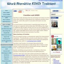 Carnitine and ADHD