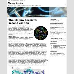 The Molbio Carnival: second edition « Thoughtomics