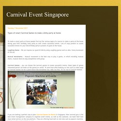 Carnival Event Singapore: Types of smart Carnival Games to make a kitty party at home
