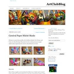 Carnival Paper Mâché Masks
