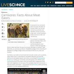 Carnivores: Facts About Meat Eaters