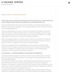 7° Colloque : écriTech