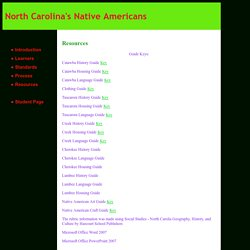 North Carolina's Native Americans: Resources