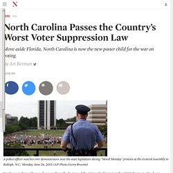 North Carolina Passes the Country's Worst Voter Suppression Law