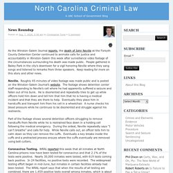 News Roundup – North Carolina Criminal LawNorth Carolina Criminal Law