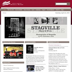 North Carolina Museum of History homepage