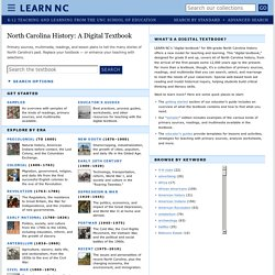 North Carolina History: A Digital Textbook - LEARN NC