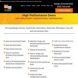 High-Speed Doors Suitable for Top Industries in Raleigh, NC