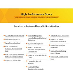 Why Invest in Swing Doors for Food Processing Operation in Angier, NC?