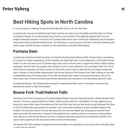 Best Hiking Spots in North Carolina - Peter Nyberg Official Website