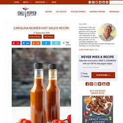 Carolina Reaper Hot Sauce Recipe
