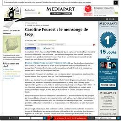 Caroline Fourest : le mensonge de trop