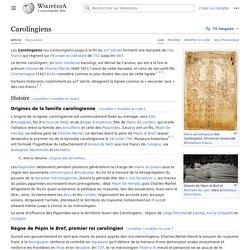 Carolingiens (751-987)
