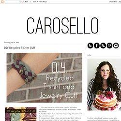 Carosello: DIY Recycled T-Shirt Cuff