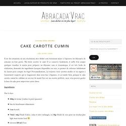 Cake carotte cumin: frichti zéro déchet!