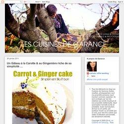 Gâteau à la carotte & au gingembre riche de sa simplicité ....