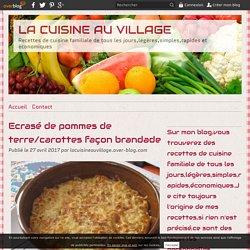 Ecrasé de pommes de terre/carottes façon brandade - LA CUISINE AU VILLAGE
