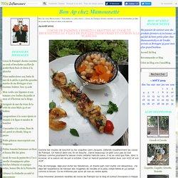 Cocos de Paimpol chorizo carottes au cook et brochettes au filet de poulet thym frais et citron à la plancha - Bon Ap chez Mamounette