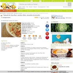Taboulé de chou-fleur, carottes rôties, amandes et coriandre, Recette Ptitchef