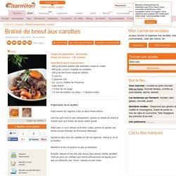 Braisé de boeuf aux carottes : Recette de Braisé de boeuf aux carottes