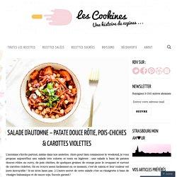 Salade d'automne – Patate douce rôtie, Pois-chiches & Carottes violettes