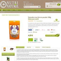 Caroube crue bio en poudre 100g - Nutri Naturel