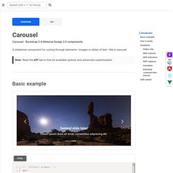 Bootstrap Carousel - examples, tutorial & advanced usage