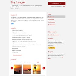 Tiny Carousel: A lightweight jQuery plugin